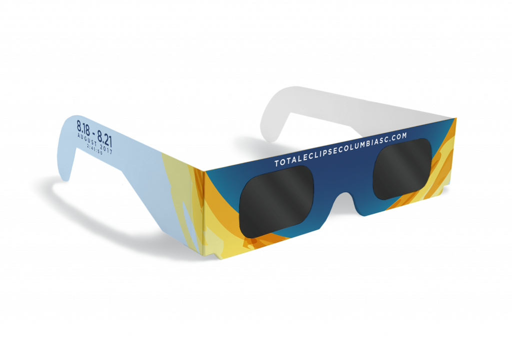 Solar Eclipse Viewing Glasses Graphic Designed by Cait Maloney for Total Eclipse Weekend Columbia SC