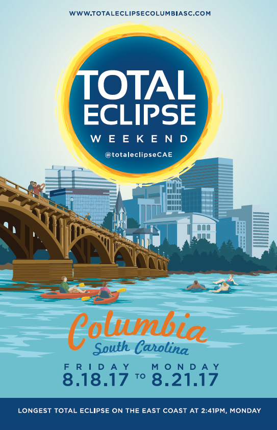 Total Eclipse Weekend Columbia SC poster