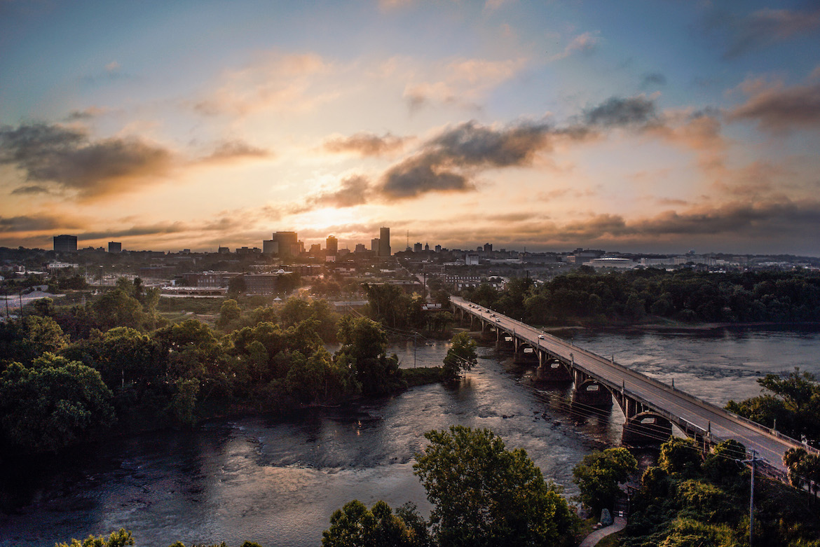 Rivers, bridge and city photo of Columbia SC by Tucker Prescott