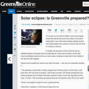 Greenville News eclipse story Columbia SC